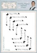 Phill Martin Sentimentally Yours - Butterfly Elegance Sentiment Corners Clear Stamp Set – SYBESC